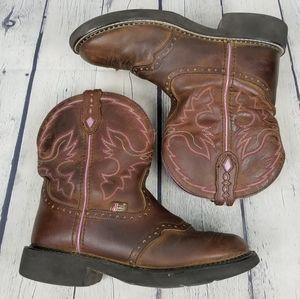JUSTIN | Gemma block heel cowboy western boots